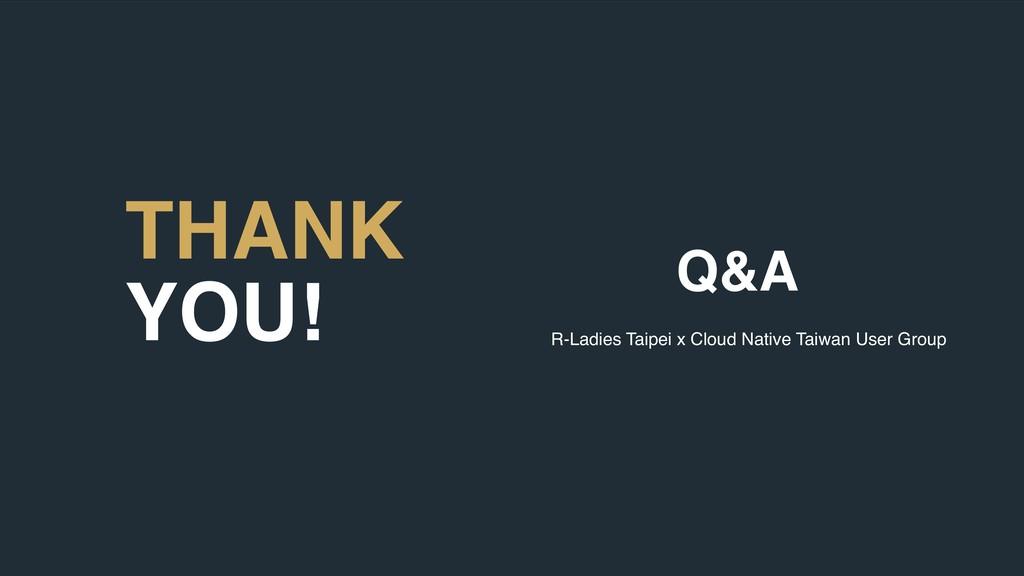 60 THANK YOU! Q&A R-Ladies Taipei x Cloud Nativ...