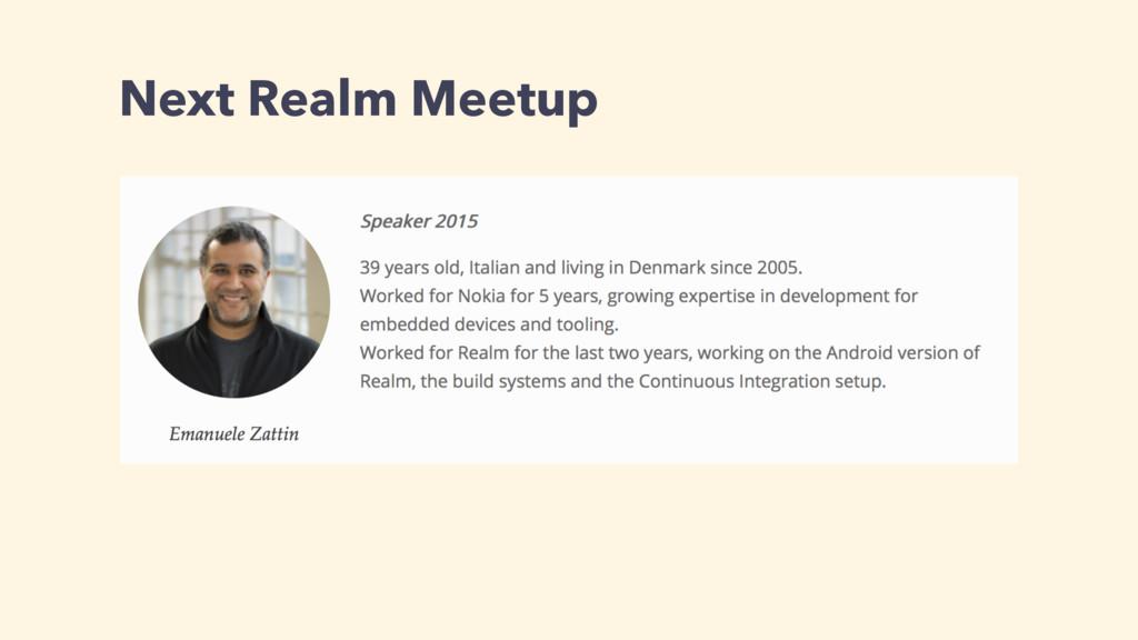 Next Realm Meetup