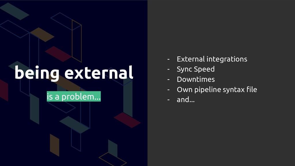 being external is a problem... - External integ...