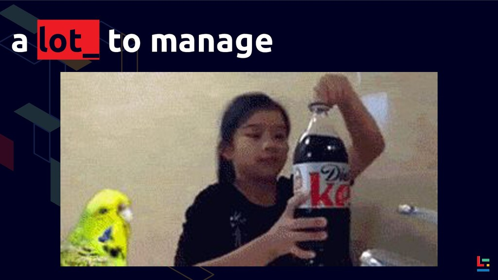 a lot_ to manage
