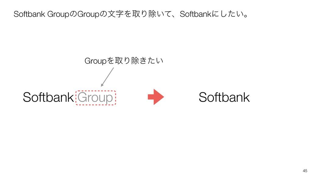 45 Softbank GroupͷGroupͷจΛऔΓআ͍ͯɺSoftbankʹ͍ͨ͠ɻ ...