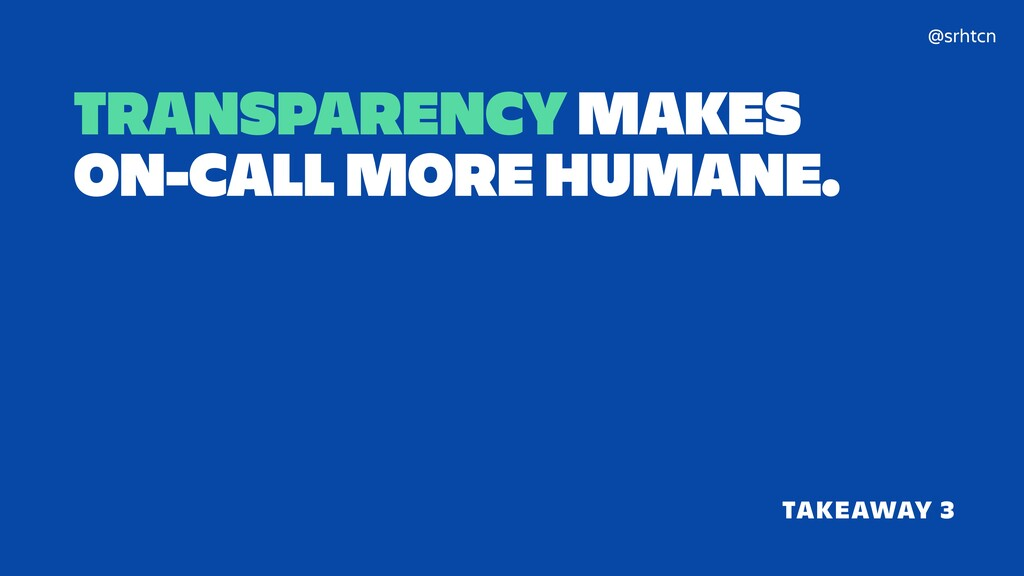 @srhtcn TRANSPARENCY MAKES 