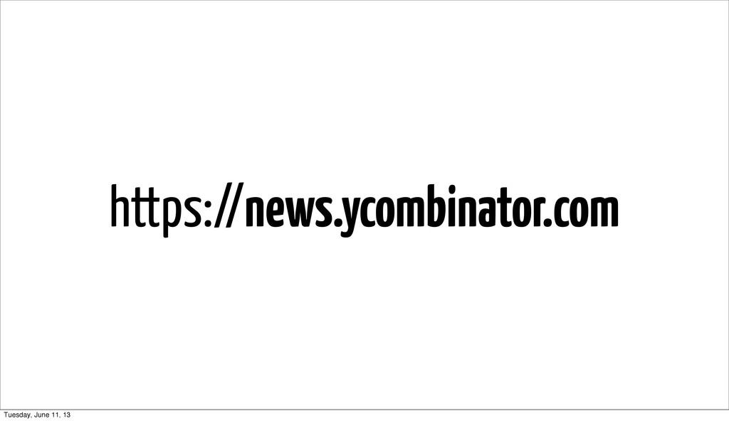 https://news.ycombinator.com Tuesday, June 11, ...