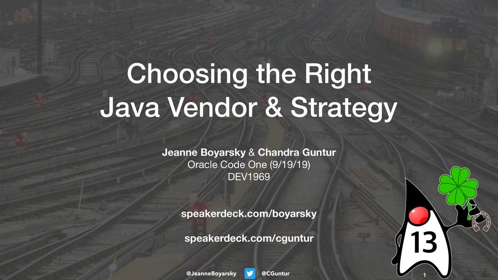 @CGuntur @JeanneBoyarsky Choosing the Right Jav...