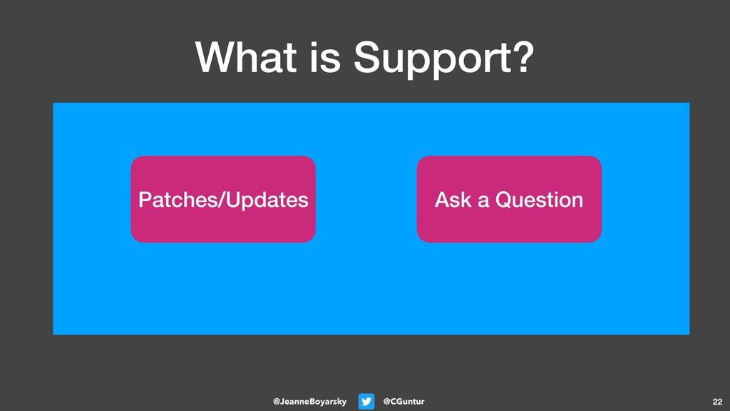 @CGuntur @JeanneBoyarsky What is Support? 22 Pa...