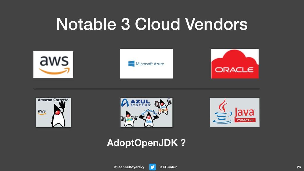 @CGuntur @JeanneBoyarsky Notable 3 Cloud Vendor...