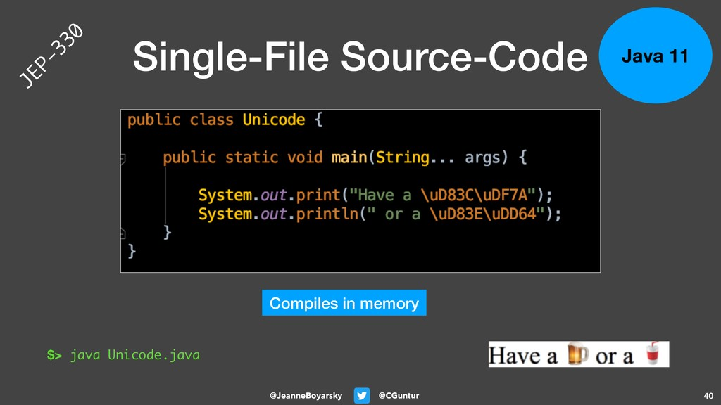 @CGuntur @JeanneBoyarsky Single-File Source-Cod...