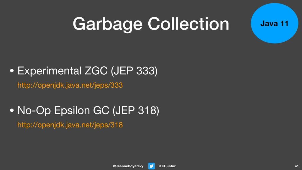 @CGuntur @JeanneBoyarsky Garbage Collection • E...
