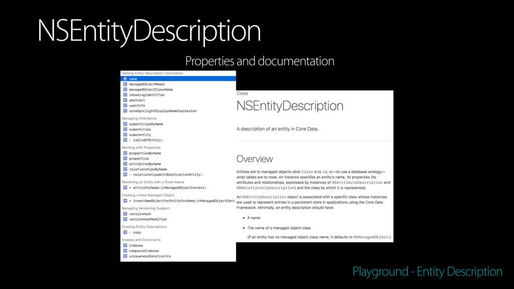Playground - Entity Description NSEntityDescrip...