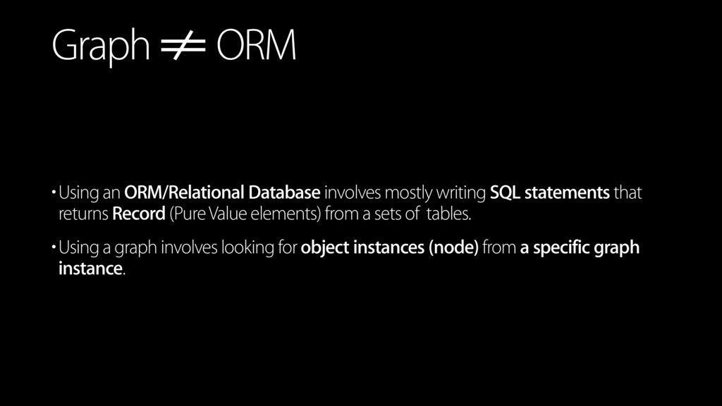 •Using an ORM/Relational Database involves most...