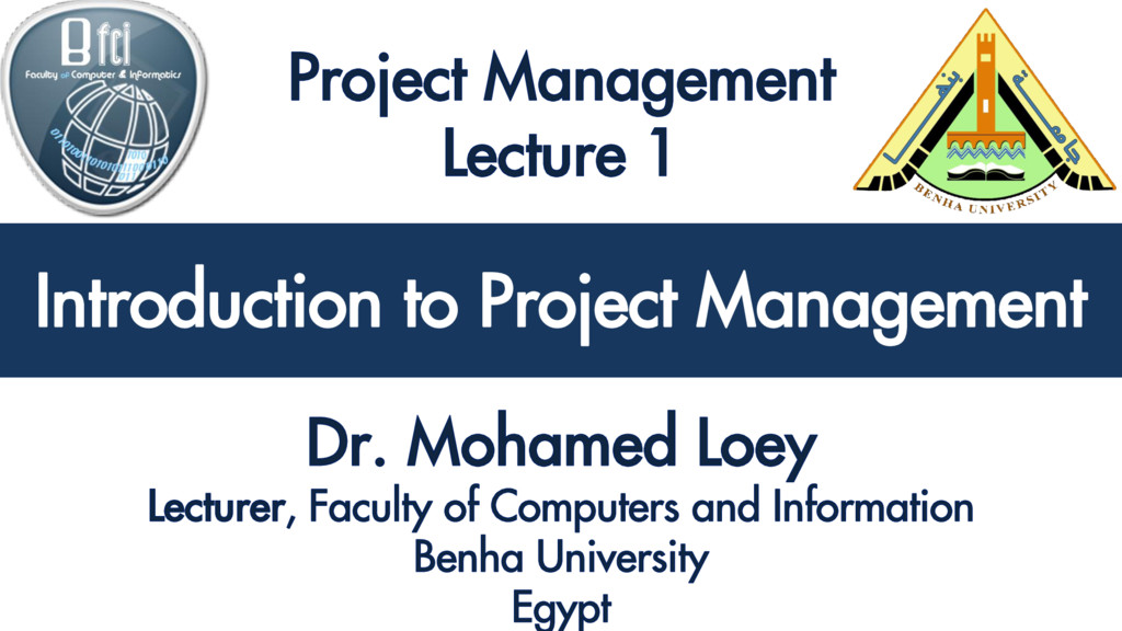 Introduction to Project Management Introduction...