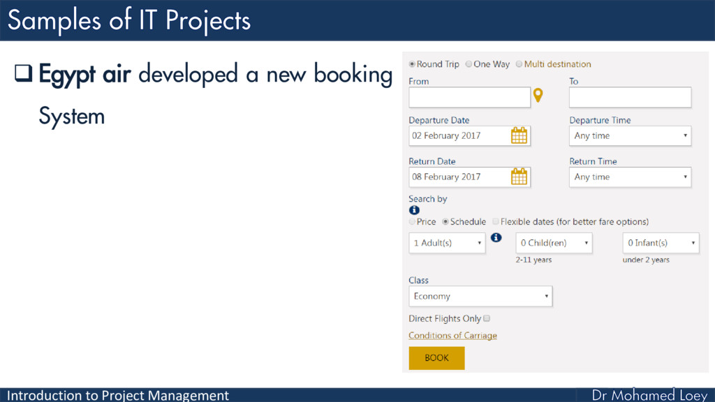 Introduction to Project Management  Egypt air ...