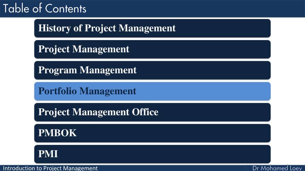 Introduction to Project Management History of P...