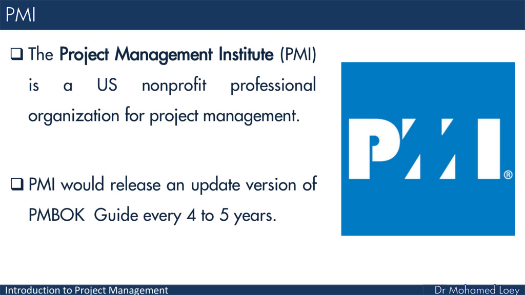 Introduction to Project Management  The Projec...