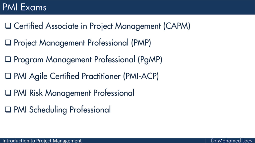 Introduction to Project Management  Certified ...