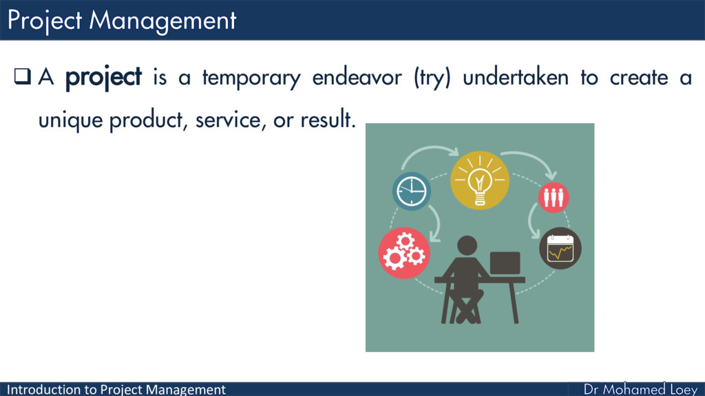 Introduction to Project Management  A project ...