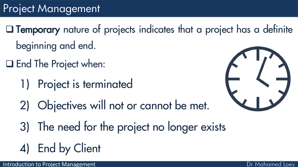 Introduction to Project Management  Temporary ...