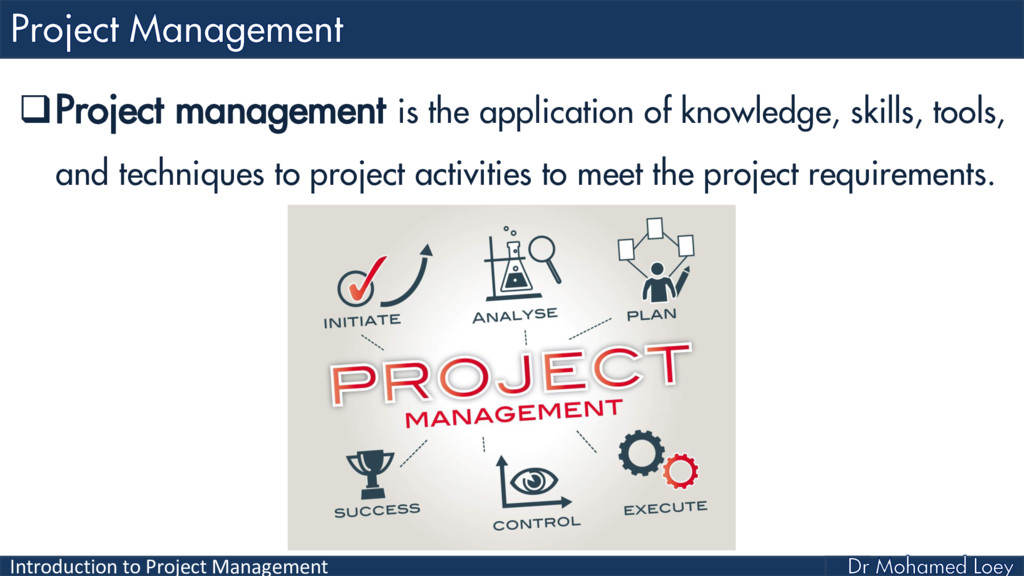 Introduction to Project Management Project man...