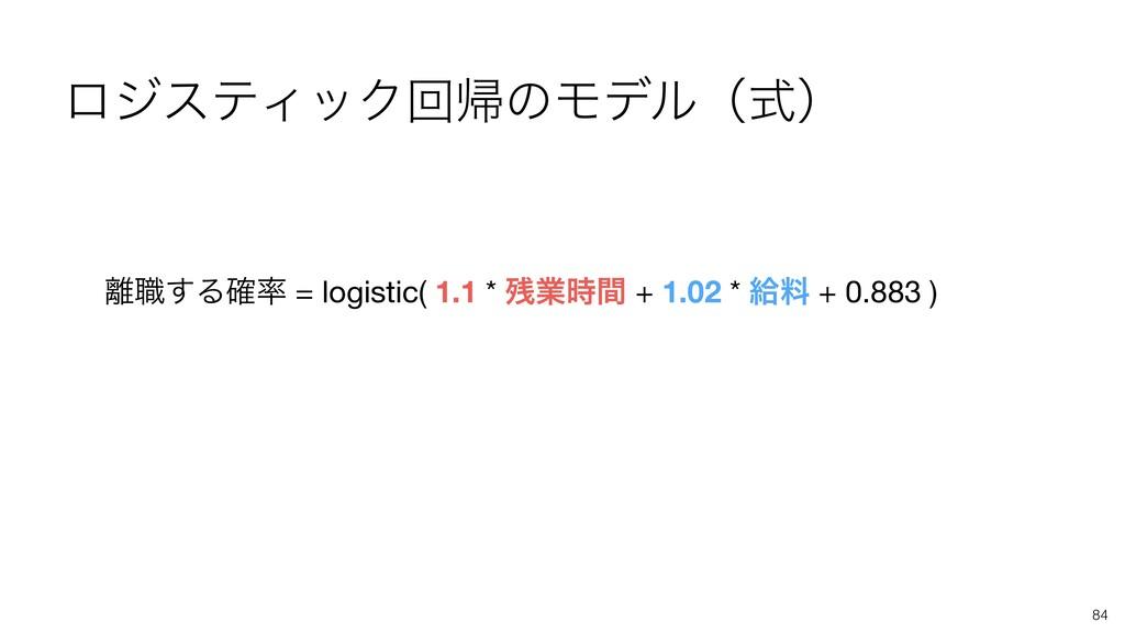 84 ৬͢Δ֬ = logistic( 1.1 * ۀؒ + 1.02 * څྉ + ...