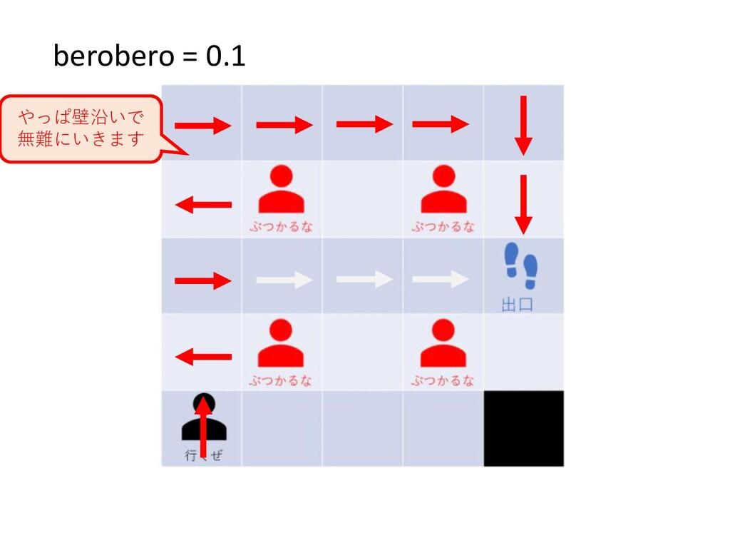 berobero = 0.1 やっぱ壁沿いで 無難にいきます