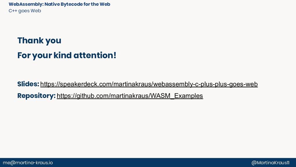 @MartinaKraus11 me@martina-kraus.io WebAssembly...