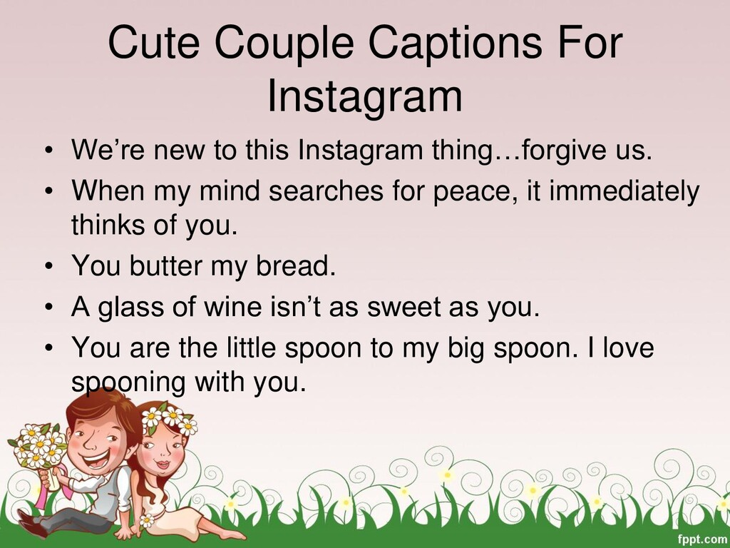 Cute Couple Captions For Instagram • We're new ...