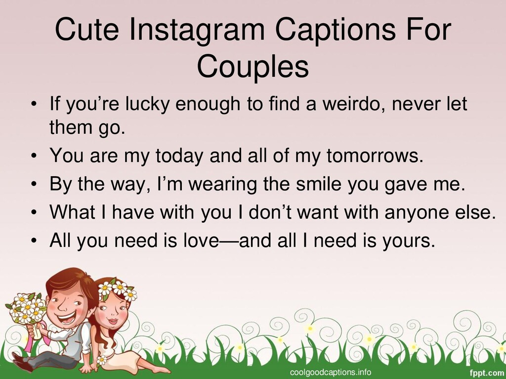 Cute Instagram Captions For Couples • If you're...