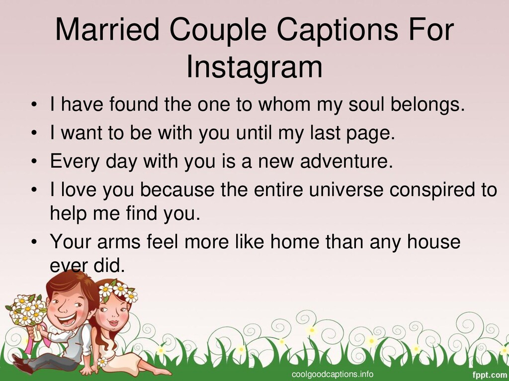 Married Couple Captions For Instagram • I have ...