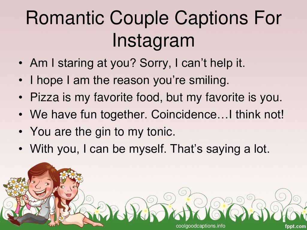 Romantic Couple Captions For Instagram • Am I s...