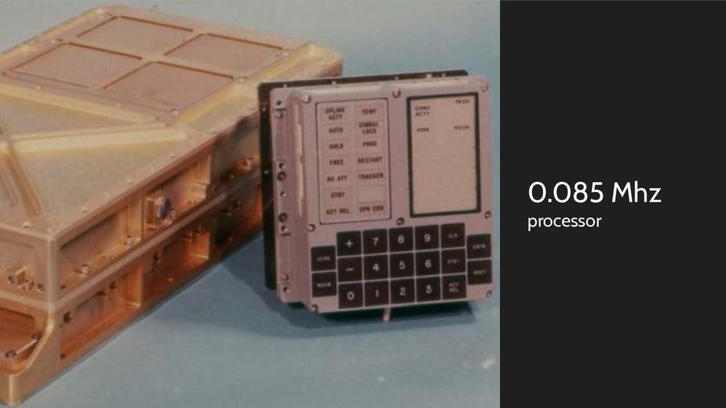 0.085 Mhz processor