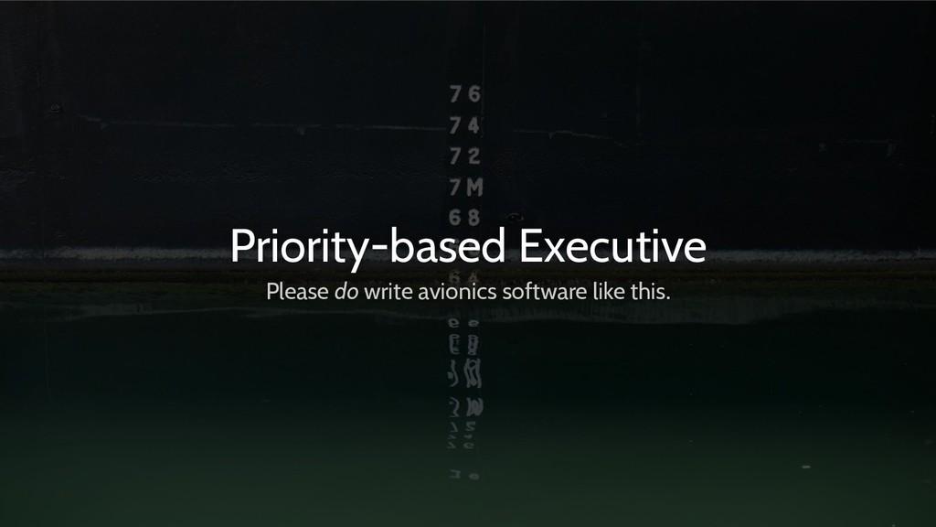 Priority-based Executive Please do write avioni...