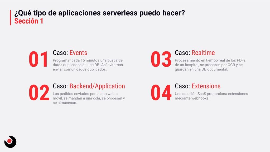 ¿Qué tipo de aplicaciones serverless puedo hace...