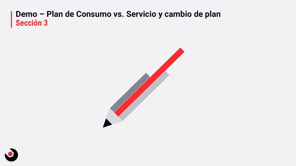 Demo – Plan de Consumo vs. Servicio y cambio de...
