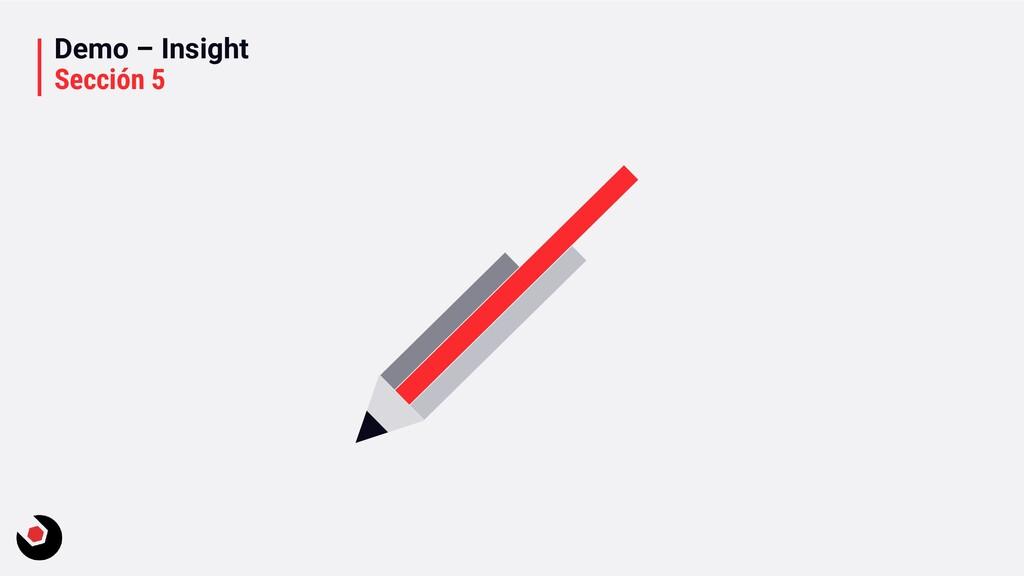 Demo – Insight Sección 5