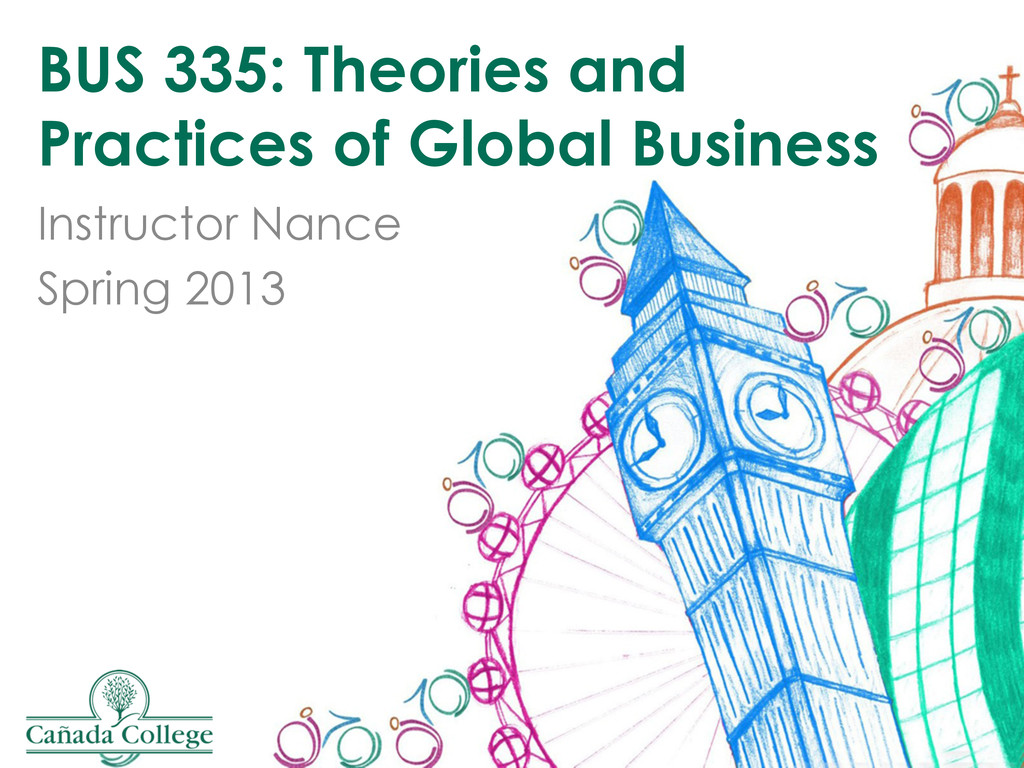BUS 335: Theories and Practices of Global Busin...