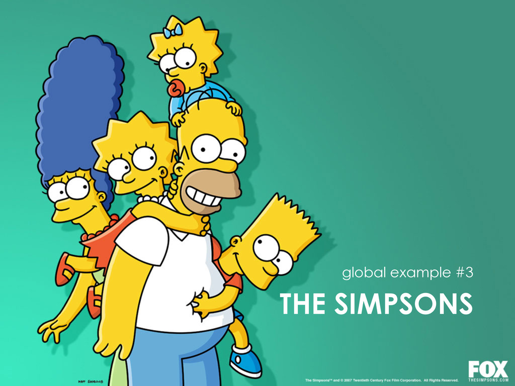 THE SIMPSONS global example #3