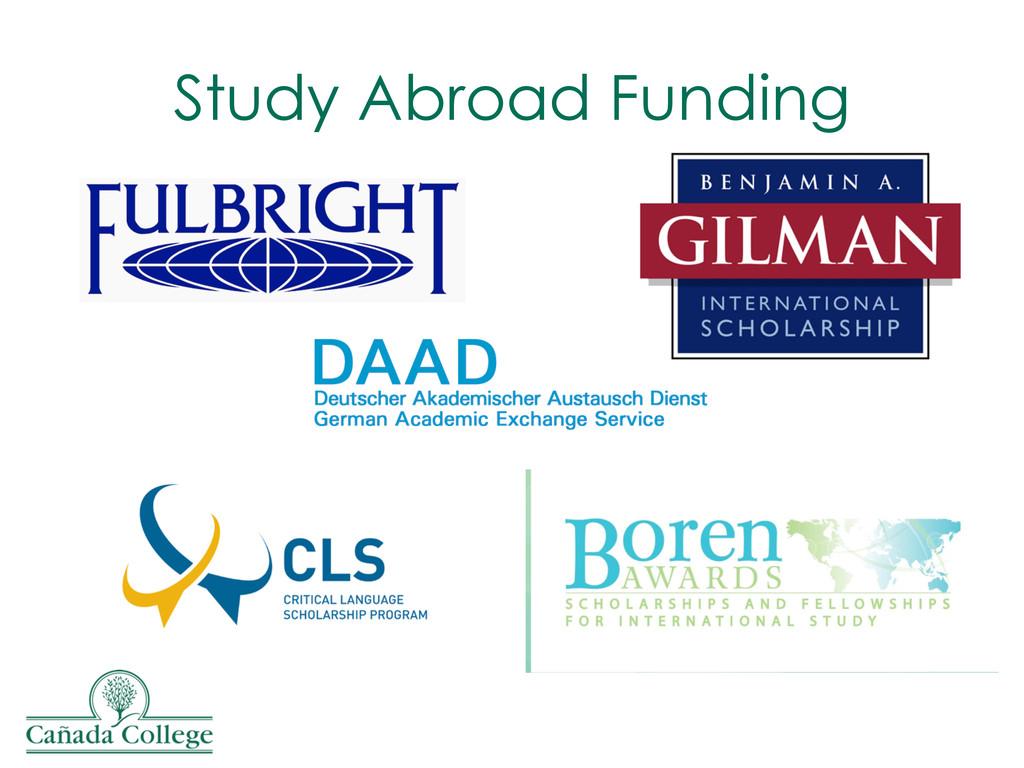 Study Abroad Funding
