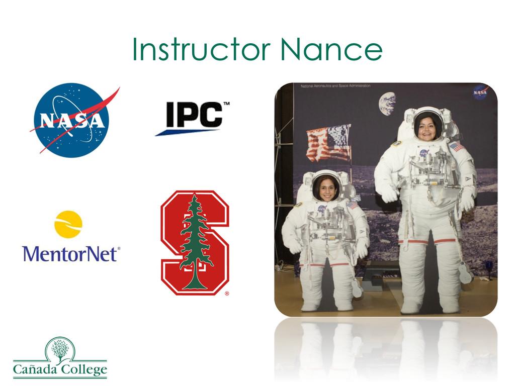 Instructor Nance