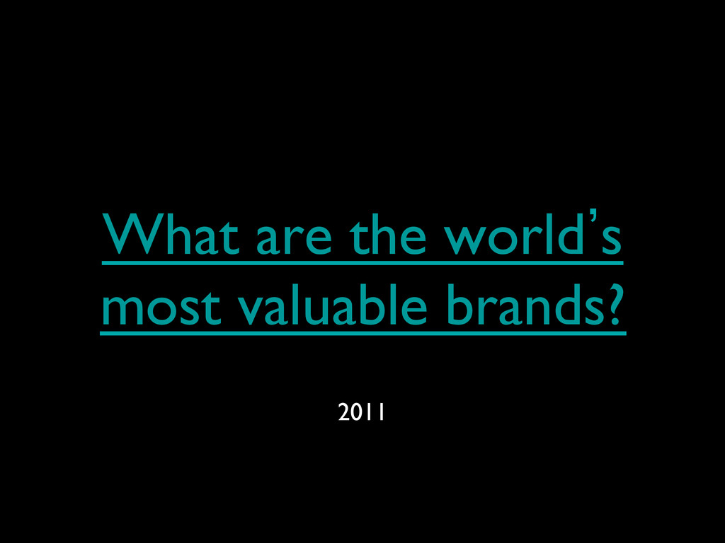 What are the world`s most valuable brands?  2...
