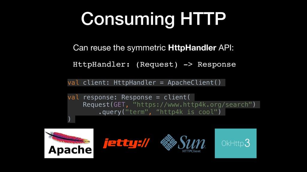 Consuming HTTP HttpHandler: (Request) -> Respon...