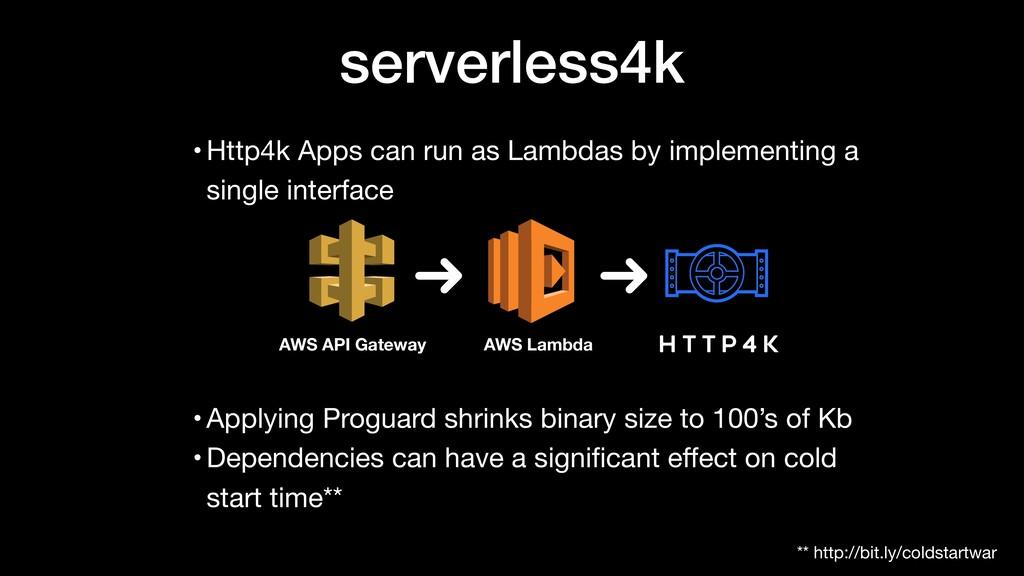 serverless4k AWS API Gateway AWS Lambda • Http4...