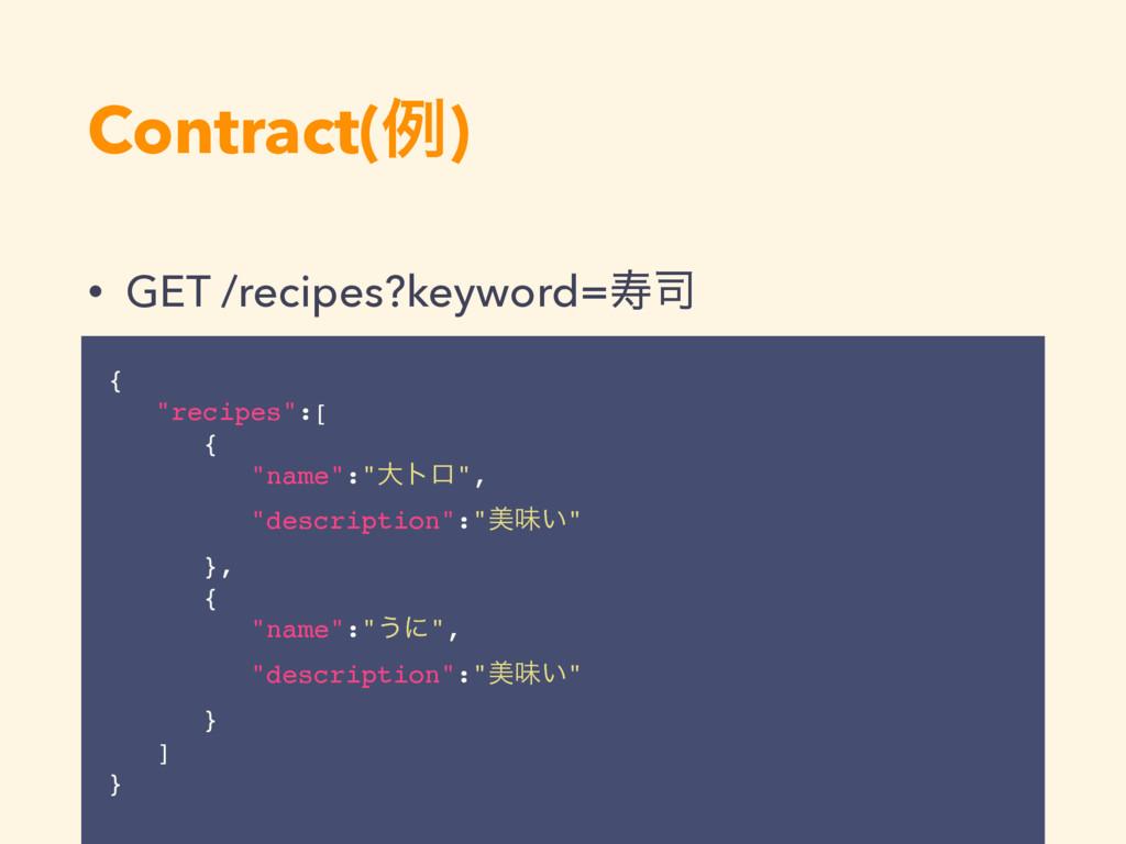 """Contract(ྫ) • GET /recipes?keyword=ण { """"recipe..."""