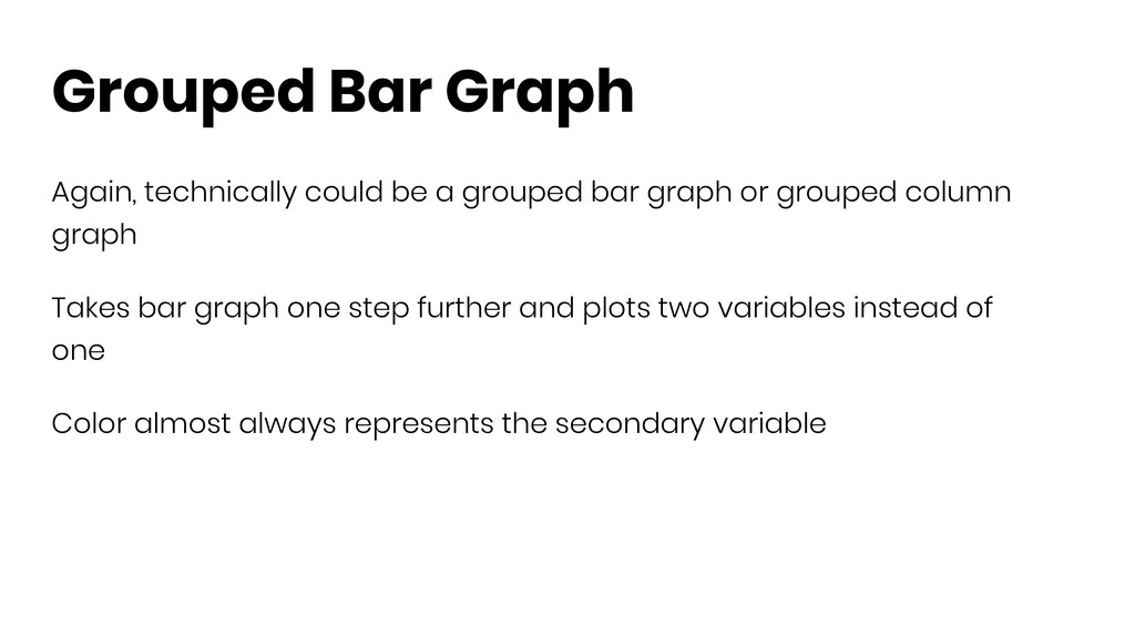 Grouped Bar Graph Again, technically could be a...