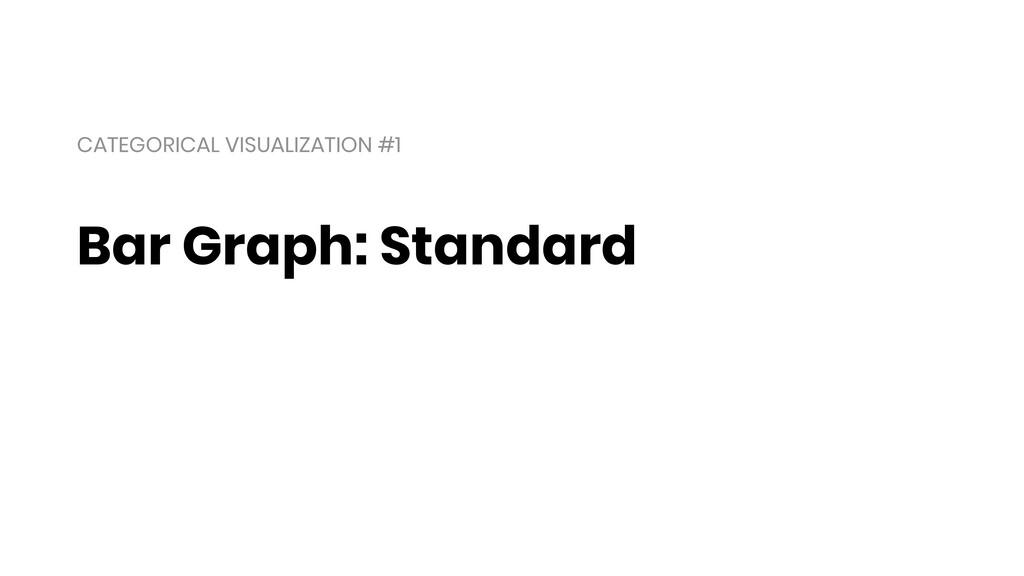 Bar Graph: Standard CATEGORICAL VISUALIZATION #1