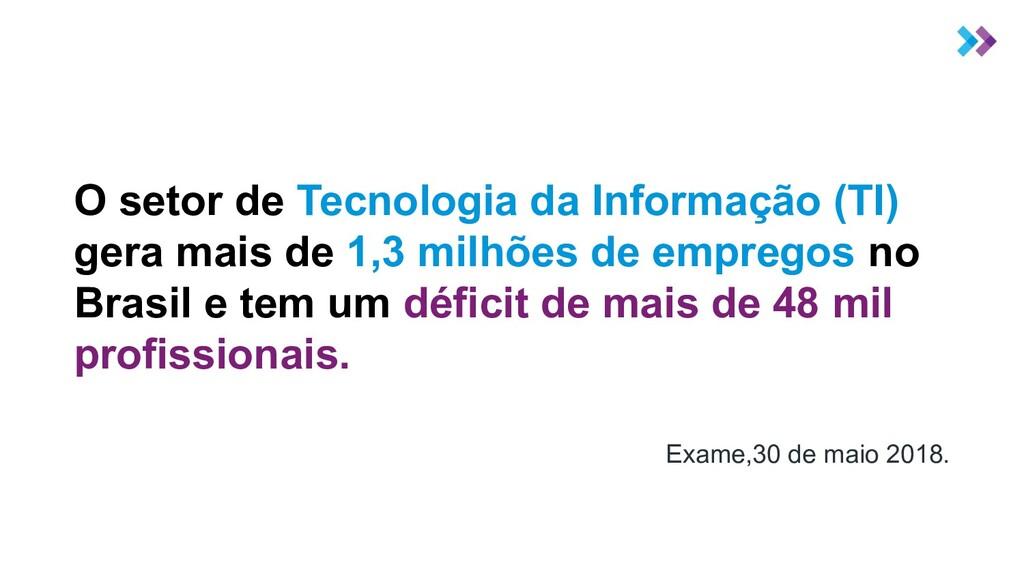 O setor de Tecnologia da Informação (TI) gera m...