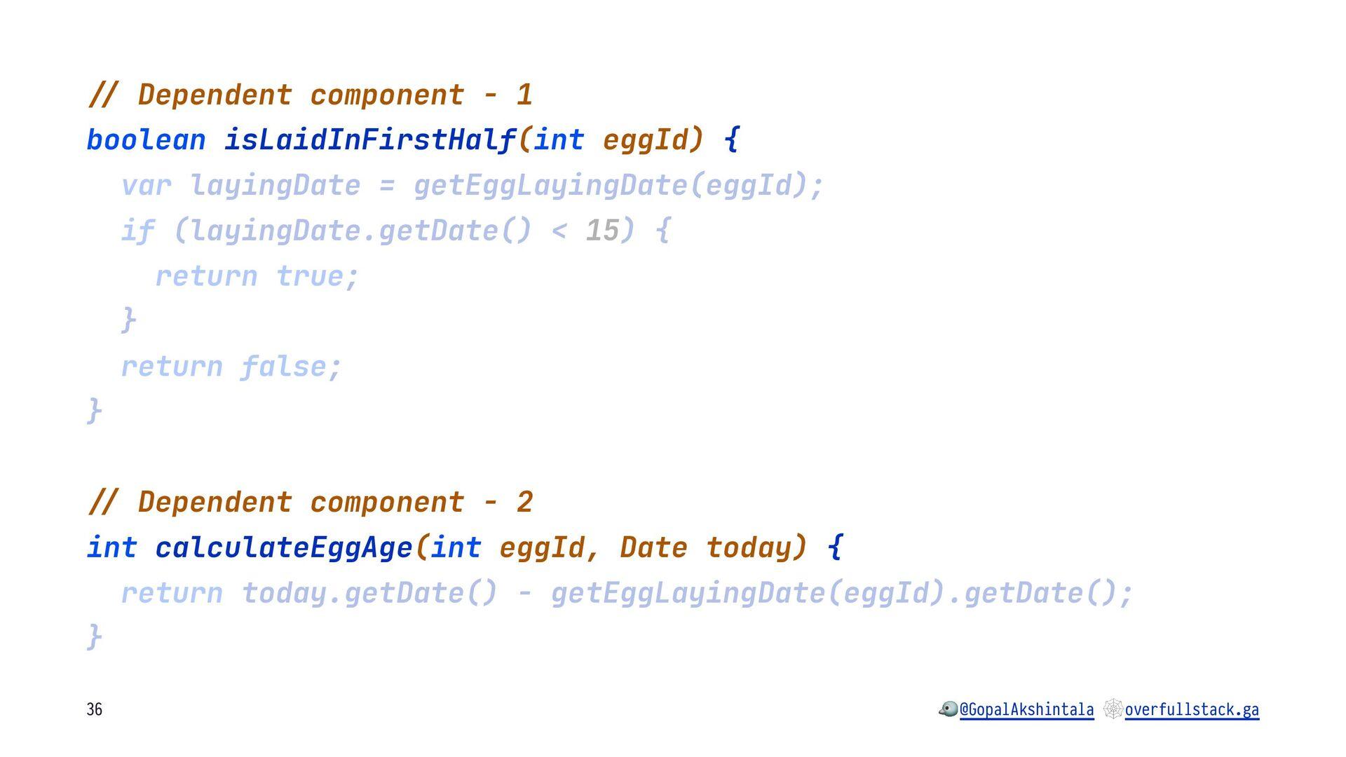 """!"""" Dependent component - 1 boolean isLaidInFirs..."""