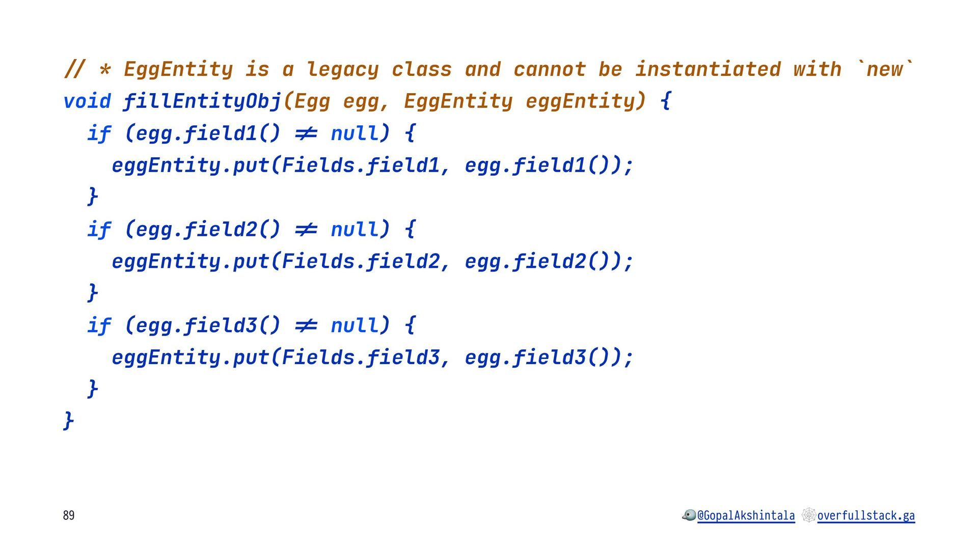 """!"""" * EggEntity is a legacy class and cannot be ..."""