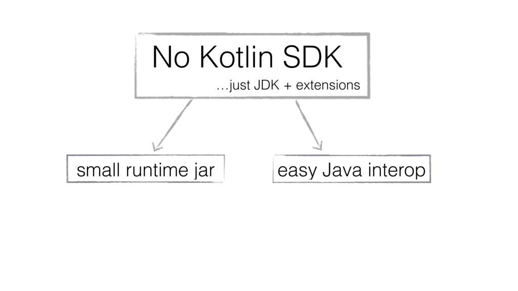 No Kotlin SDK …just JDK + extensions small runt...