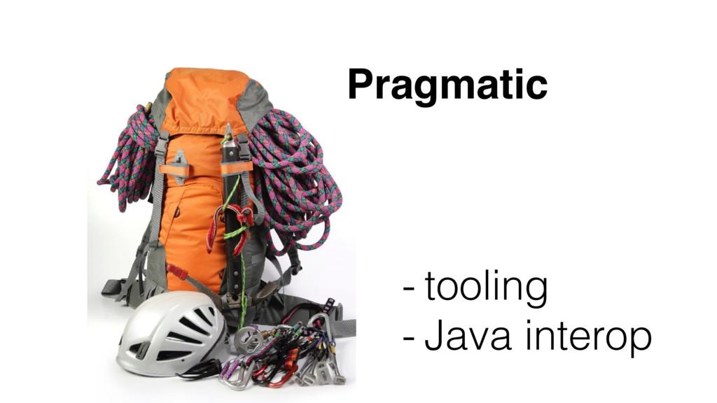 Pragmatic - tooling - Java interop