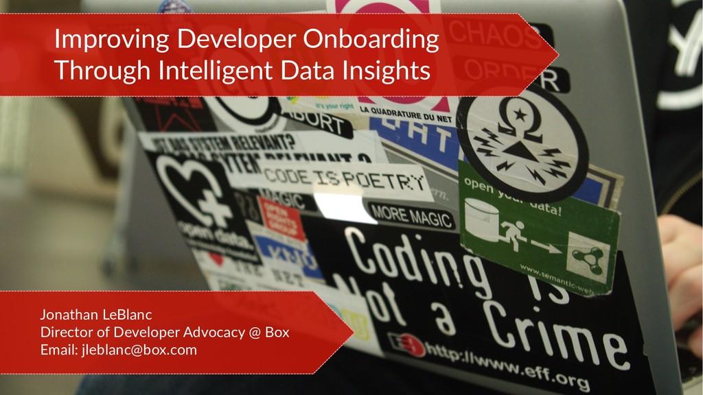 Improving Developer Onboarding Through Intellig...